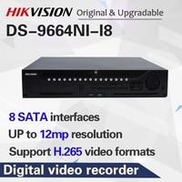 HIK 64 Profissional Sistema de CFTV Canal DS 9664NI I8 Incorporado 4K 64 CH NVR até Megapixels Resolução 12 8 SATA 2 HDMI|gravador de vídeo de vigilância| |  -