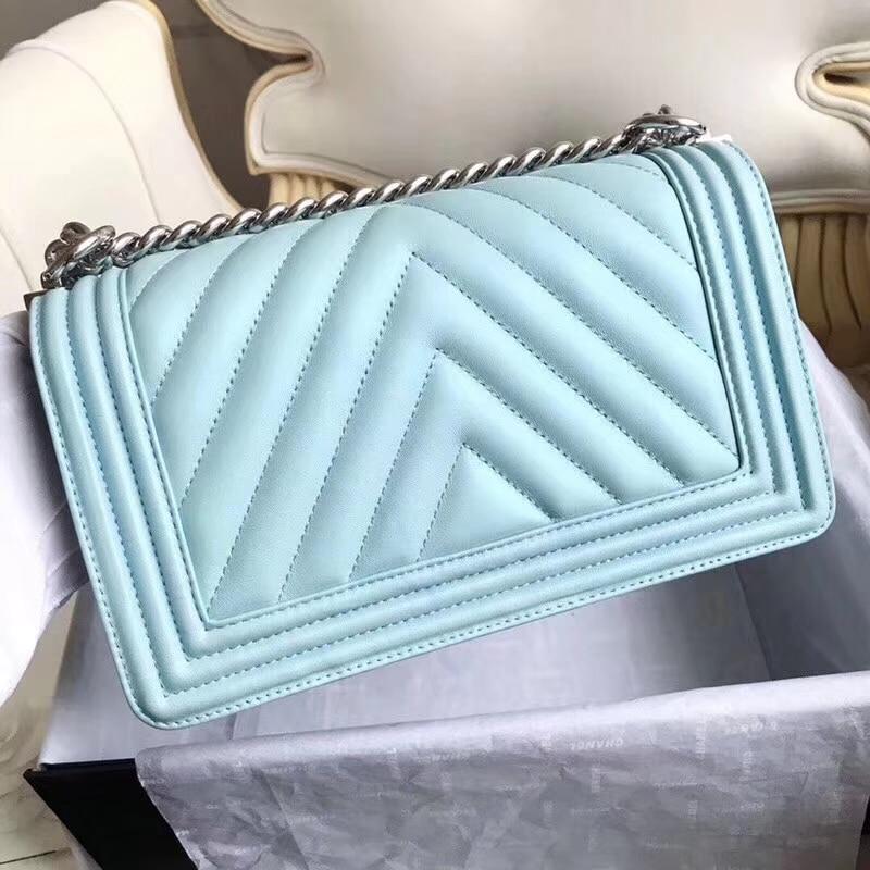 Le Boy Bag Women Real Leather Caviar Lambskin Handbags Top Quality Designer Fashion Crossbody Messenger Chain Bags