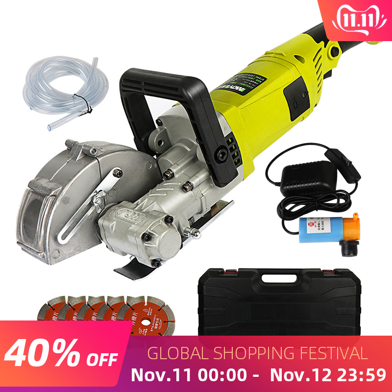 4000W 220V Electric Wall Chaser Groove Cutting Machine Wall Slotting Machine Steel Concrete Circular Saw Electric Tool