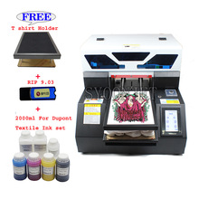 T-Shirt Textile-Ink-Set Fabric-Printer White Touch-Screen Automatic Dark Dtg A4