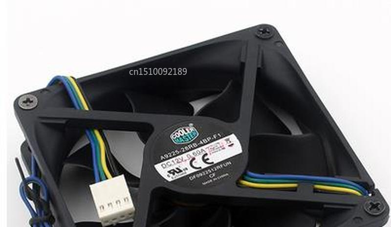 For Original 92x92x25mm A9225-28RB-4BP-F1 DF0922512RFUN 12V 0.6A RF-UPCUWR 4Wire 9cm Cooler Fan Free Shipping