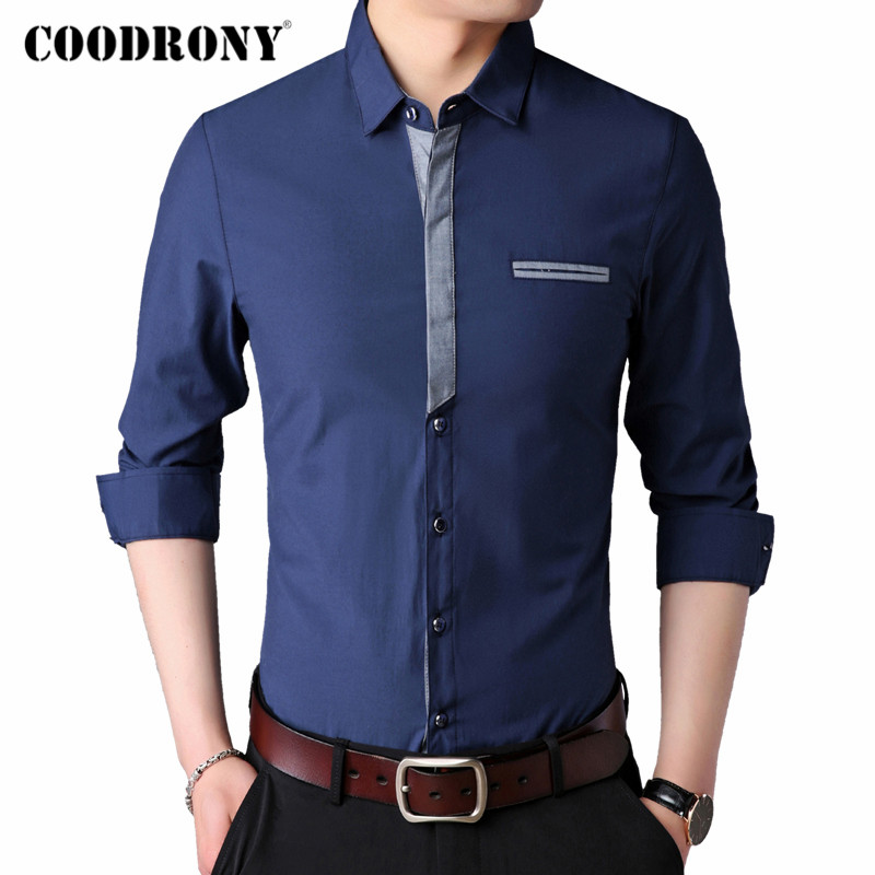 COODRONY Long Sleeve Shirt Men Clothes 2020 New Arrival Spring Autumn Mens Cotton Shirts Business Casual Camisa Masculina C6018
