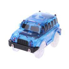 New 5 Lights Magic Tracks Car LED Car Toys Cars Race Track School Bus Police Car 72XC