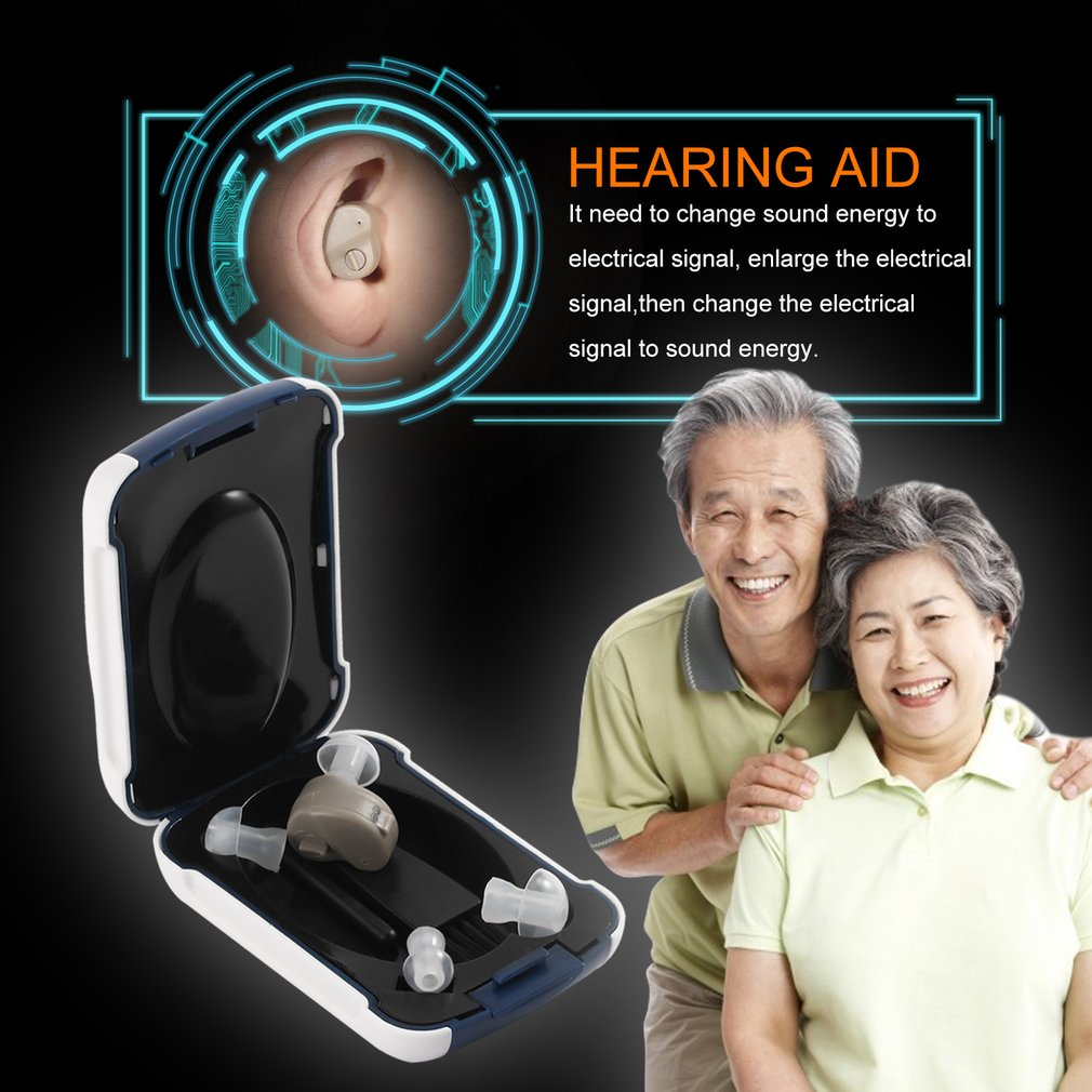 Hot Hearing Amplifier Enhance Sounds Invisible Behind Ear Aids Hearing Device PLD