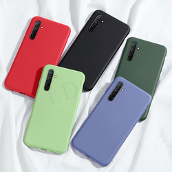 For Oppo Realme XT Case Realme X3 X2 3 5 5i 6 6S X7 X50 Pro C3 Liquid Silicon Shockproof Soft Phone Case on Realme X2 Pro Cover
