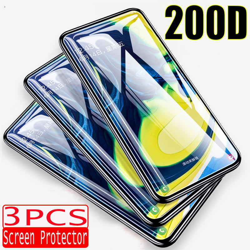 3-1PCS 200D Protector Glass For Samsung Galaxy A50 A10 A20 A40 A70 A8 Screen Protecor A30 M10 M20 M30 Full Cover Tempered Glass