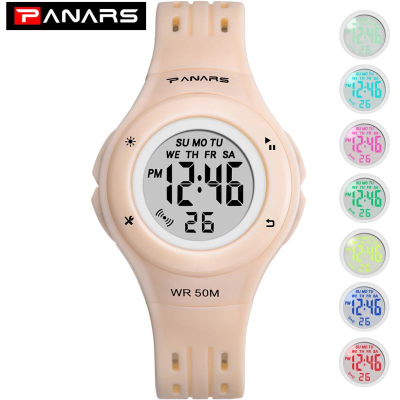 2019 PANARS Brand Electronic Sport Watch Women Digital Watch Casual Waterproof LED Digital Wristwatch Female Clock Montre Femme