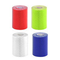 4 Rolls Bicycle Reflect Strip Sticky Film Removable Sacurity Accessory for Backpack Car