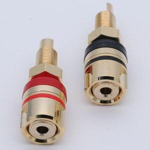 Коннектор типа «банан» с позолоченным покрытием, 10 шт., 4 мм, клеммы для динамиков, Немагнитный разъем типа «банан»
