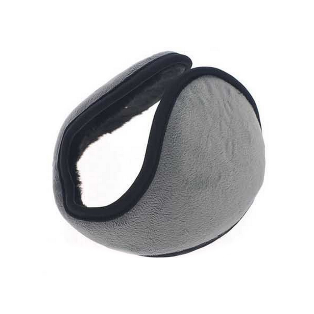Winter Solid Color Earmuffs For Men One Size Fits Plush Cloth Ear Warmers Collapsible For Easy Storage