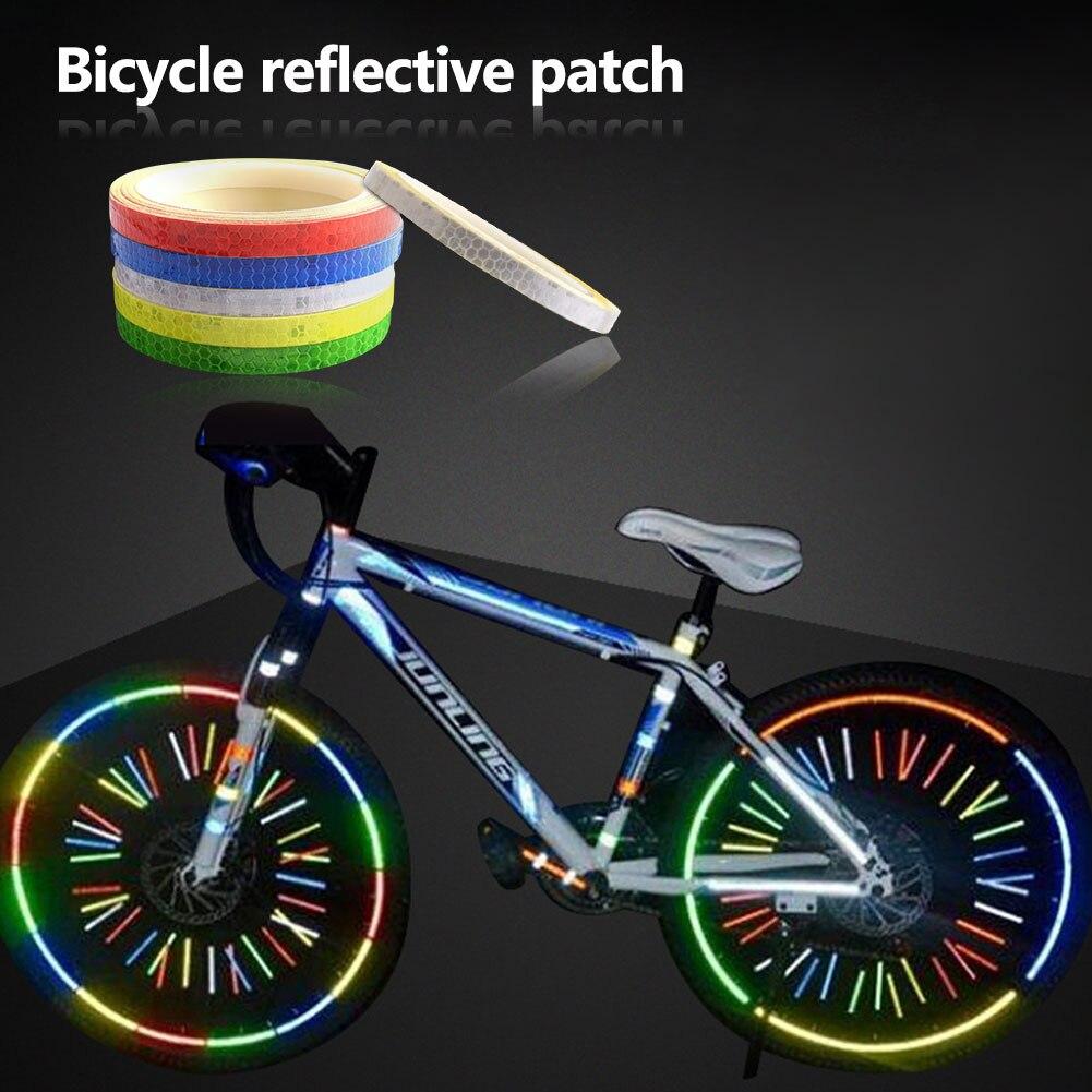 Reflective Stickers Safety Strips Reflect Warning Tape Bike Wheel Sticker