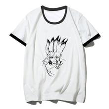 Dr Stone Ishigami Senkuu Fashion Hiphop Short Sleeve Printed Men T Shir