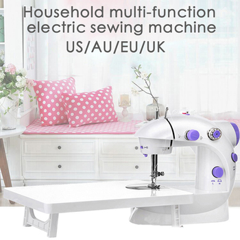 Mini Sewing Machine Household Multi-functional Electric 202 with Lamp Portable Mending for Fabric