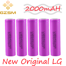 GZSM 18650 battery For LG LG18650HD2 rechargeable battery 2000mAh 3.6V 25A For replacement battery цена и фото
