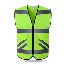 Reflective Vest High Visibility Multi Pocket Safety Gear Out