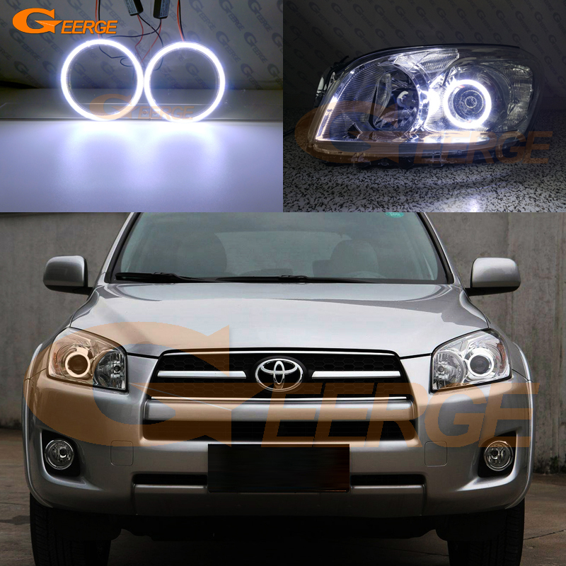 Excellent COB led angel eyes kit halo rings Ultra bright For <font><b>Toyota</b></font> RAV 4 <font><b>RAV4</b></font> III 2009 <font><b>2010</b></font> 2011 2012 PROJECTOR HEADLIGHT image