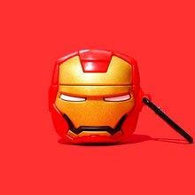 Étui Airpods Pro 2 avec les Avengers Iron Man, boîtier pour écouteurs, dessin animé Thanos, Captain America, Hulk, Thor
