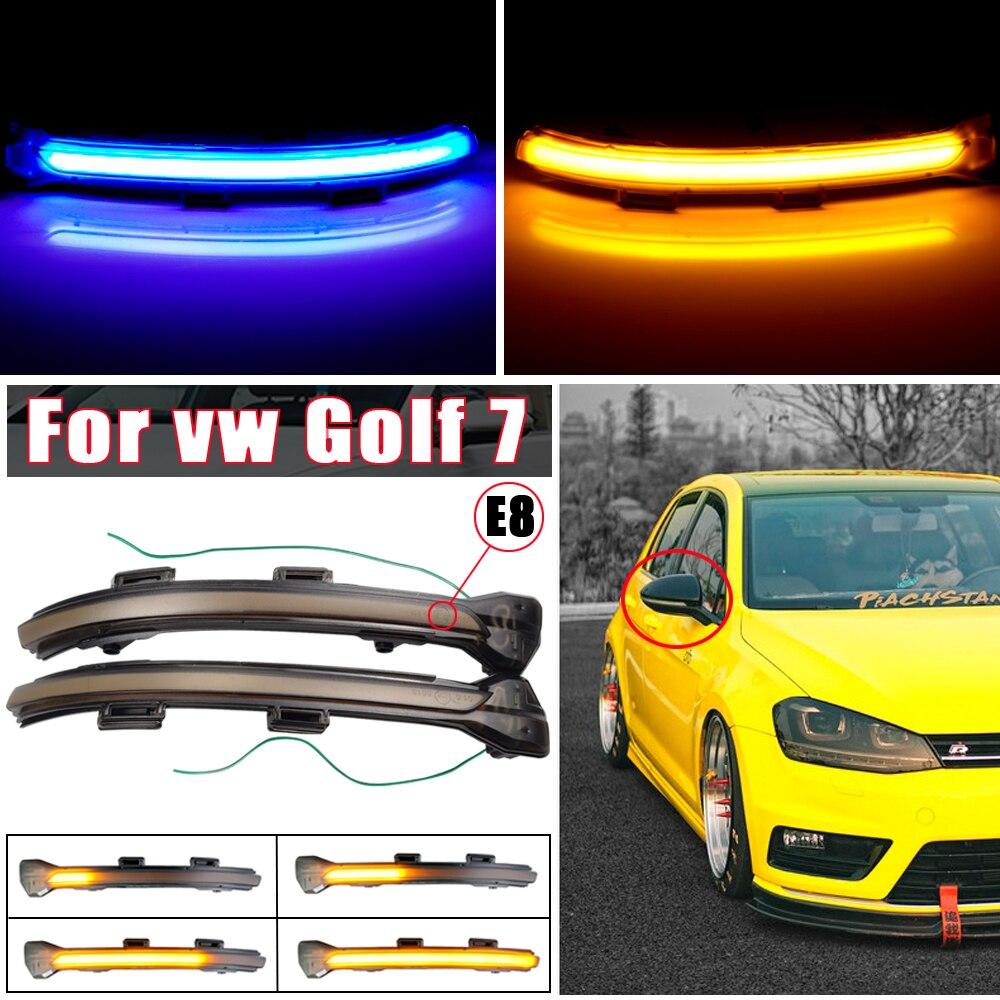 Для VW Golf 7 7,5 для Volkswagen GTD R GTI MK7 2012-2020 Touran динамический потоковый боковой зеркальный светодиодный сигнал поворота мигасветильник свет