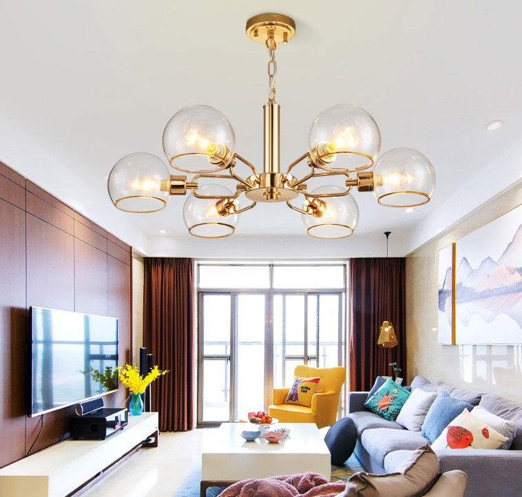Nordic New Living Room Chandeliers Light Postmodern Creative Restaurant Bedroom Glass Fixtures Simple Home Hotel Hanging Lamps