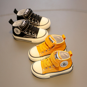 Image 4 - Childrens canvas shoes baby shoes boys 1 3 years old toddler shoes girls cloth shoes 2019 autumn new
