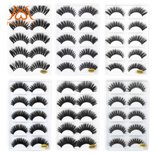 5 Pairs Mink Eyelashes Natural Thick Fake Soft Hair 3d Lashes Makeup Extension Clios