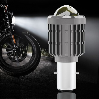 1PCS Electric Vehicle Motorcycle Led Headlight Yellow And White Double Color Far And Near Light With Lens image