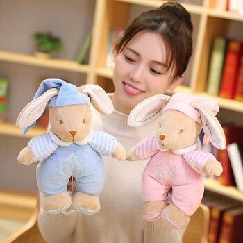 26cm Kawaii Teddy Bear Rabbit Musical Plush Doll Soft Stuffed Sleeping Comfort Appease Lullaby Elephant Toys Children Baby Gift