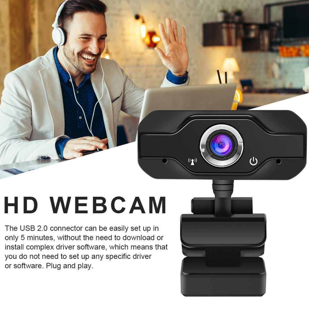 HD Webcam Built-in Dual Mics Smart 1080P Web Camera Cam For OS PC Laptops Camera Windows10/8 USB For Desktop Pro Game Strea C9R6
