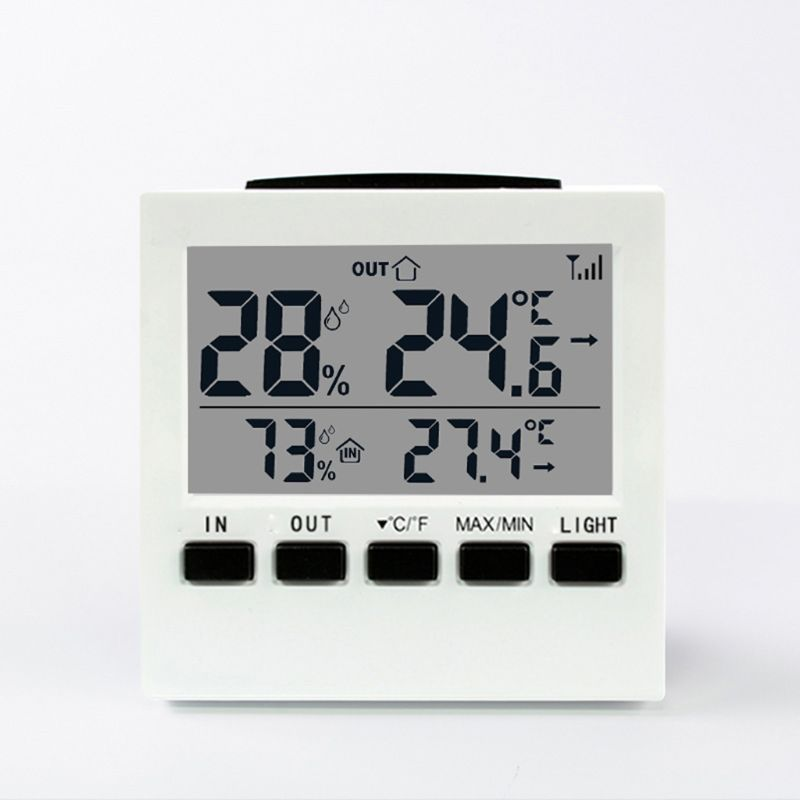 Indoor/Outdoor Wireless Weather Station LCD Digital Thermometer Humidity Meter