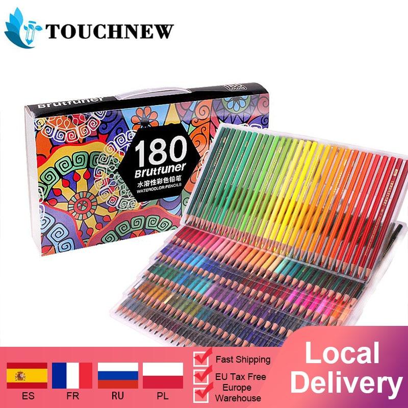 180 профессиональные акварельные карандаши, пронумерованные, растворимые, уникальные акварельные ранцы для взрослых и художников