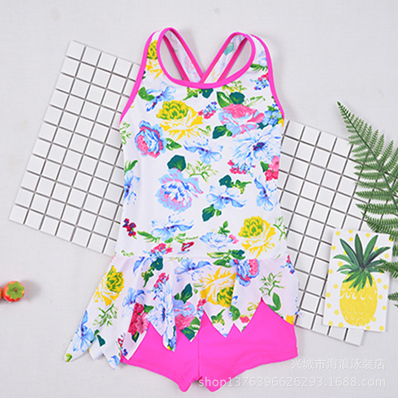 2018 On Behalf Of New Style KID'S Swimwear Children Cute Cartoon Girls Dress-Tour Bathing Suit