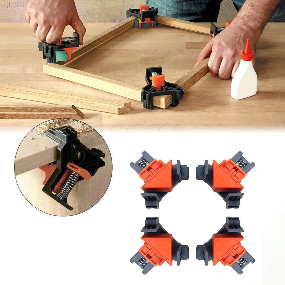 4 Pcs 90 Degree Right Angle Clamp Fixing Clips Picture Frame Corner Clamp Woodworking Hand Tool Angle Clamps Pipe Clamp