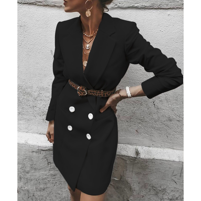 2020 New Style for Autumn and Winter Fashion Women's Clothing Wild Medium-Length Casual Blazer
