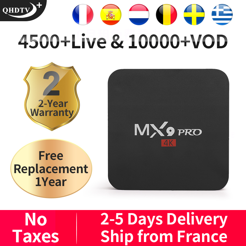 QHDTV Plus France IPTV Arabic/Belgium/Italy/Spain MX9Pro Android 8.1 1G+8G Box