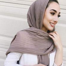 Chiffon Shawl Scarf Stole Bandanas Muslim Hijab High Quality Head Wrap Plain Cotton 180cm*85cm 2018 women scarf muslim hijab scarf chiffon hijab plain silk shawl scarveshead wrap muslim head scarf hijab