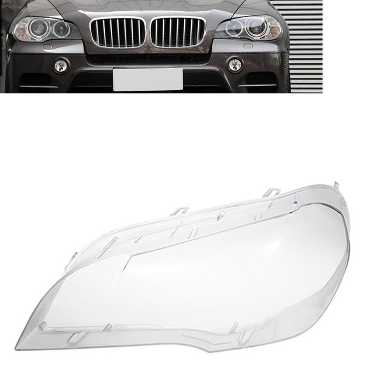 Car Clear Headlight Lens Cover Replacement Headlight Head Light Lamp Shell Cover For BMW X5 E70 2008-2013