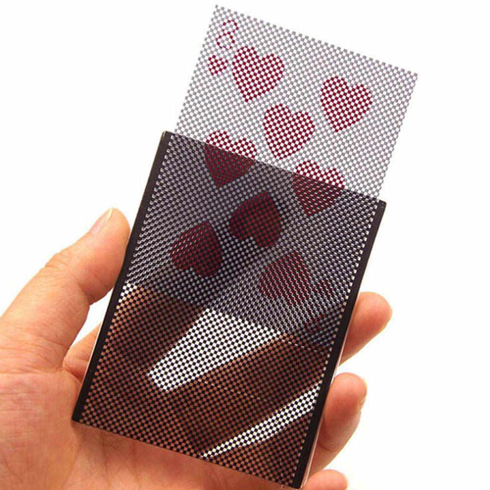 مضحك بوكر بطاقة خدعة سحرية رائعة تتلاشى الوهم تغيير كم قرب الشارع لعبة خدعة سحرية