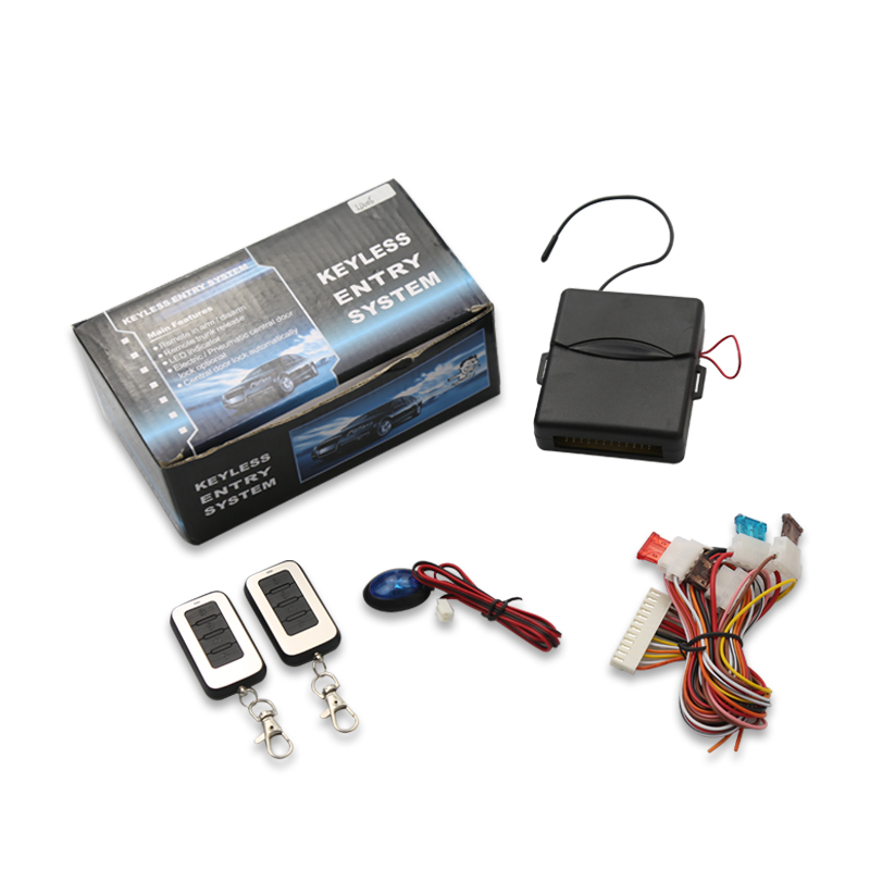 Vehicle Keyless Entry System With Remote Controllers Car alarm System Security system LD006