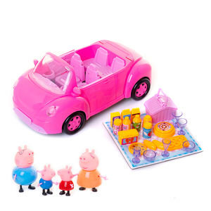 Image 3 - Świnka Peppa George zabawki czerwony samochód zestaw figurka figurki Anime zabawki dla dzieci zabawka z kreskówki dla dzieci świnka Peppa prezent urodzinowy