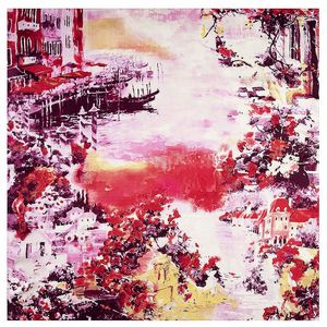Image 4 - 2020 New Winter Scarf Van Goghs Oil Painting Luxury Brand Twill Silk Wholesale Square Scarf Kerchief Shawl Scarves For women