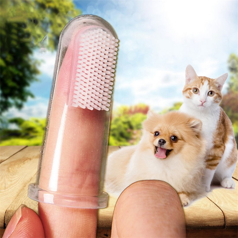 2 PCS  Hot Selling Super Soft Finger Brush Pet Toothbrush Plush Dog Plus Bad Breath Dental Care Tartar Dog Cat Cleaning Supplies