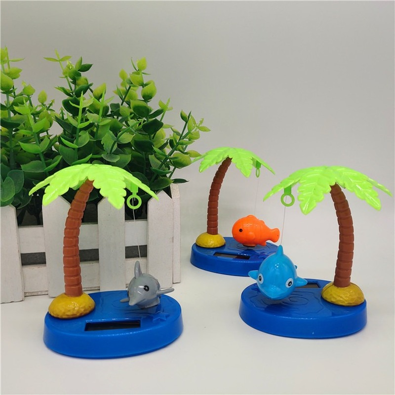 1Pcs Creative Fashion Solar Swing Cute Fish Toys Cartoon Shaking Head Animals Model Car Desktop Decoration For Children Gifts