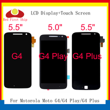 10Pcs/lot LCD For Motorola Moto G4/G4 Play/G4 Plus Touch Screen Digitizer Assembly LCD Display For Moto G4 Complete Replacement 5pcs lot for motorola moto x3 play xt1562 lcd display touch screen digitizer assembly black white free dhl