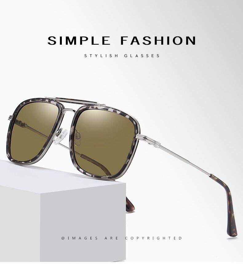 Солнцезащитные очки lm в металлической оправе для мужчин и женщин