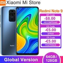 Versão global xiaomi redmi nota 9 3gb 64gb smartphones 48mp quad câmeras 6.53