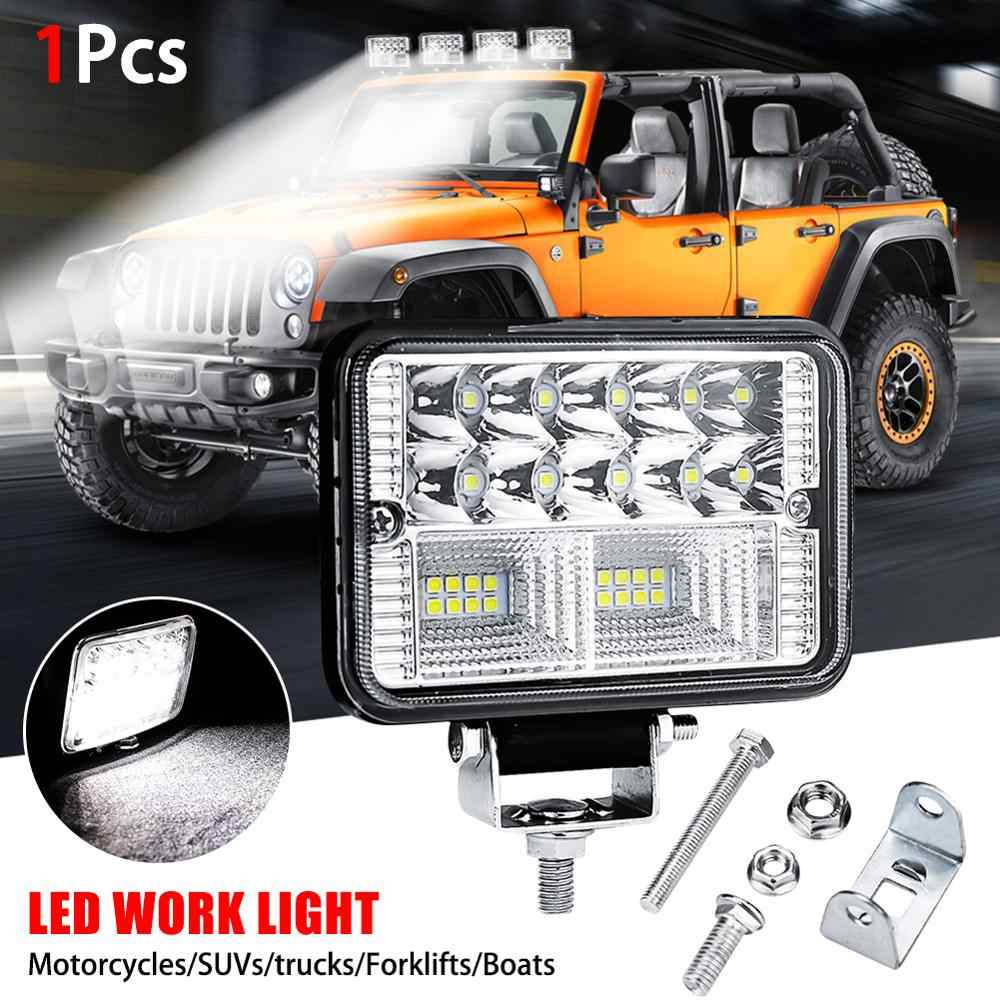27W 9 LED Flood LED Work Light Bar Offroad Boat Car Tractor Truck SUV Fog Lamp E
