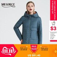 MIEGOFCE 2019 Весна и осень женская куртка c капюшоном женская модная ветрозащитное пальто куртка с большими карманами горячая продажа