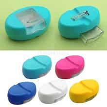 1 Uds. De agujas magnéticas para manualidades, cojín de costura con aguja, almacenamiento de cajas cuadradas de almacenamiento antipérdida, accesorios para herramientas de costura