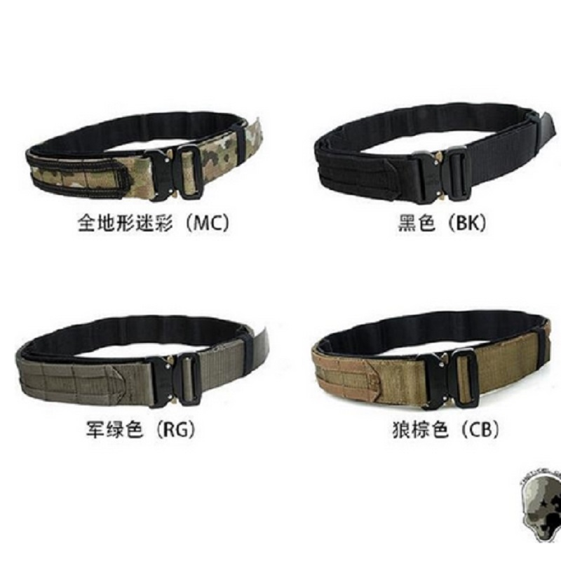 TMC 1.75 Inch Tactical CS Outdoor Military Army Fighter Belt Black Hunting Shooter Belt