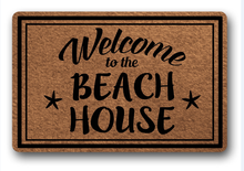 Funny Printed Doormat Non-slip welcome to the beach house tive Designed Door Mat Entrance Floor 18x30inch